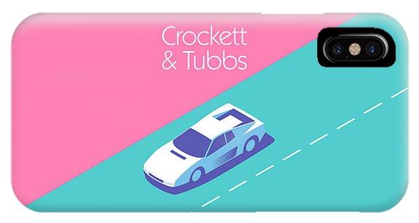 Florida iPhone Case - Miami Vice Crockett Tubbs - Magenta by Ivan Krpan