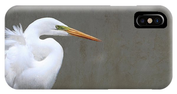 Portrait Of An Egret Rectangle IPhone Case