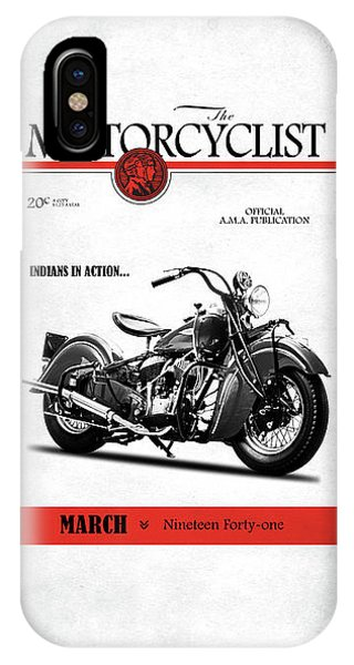 Magazine Cover iPhone Case - Motorcycle Magazine Indian Chief 1941 by Mark Rogan