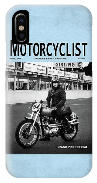 Magazine Cover iPhone Case - Motorcycle Magazine Grand Prix Special 1952 by Mark Rogan