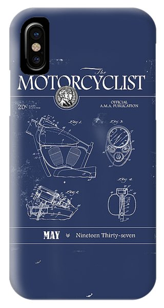 Magazine Cover iPhone Case - Motorcycle Magazine Harley Motorcycle Design 1937 by Mark Rogan