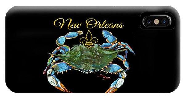 Louisiana Blue On Red IPhone Case