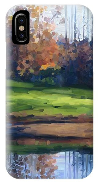 Autumn By Water IPhone Case