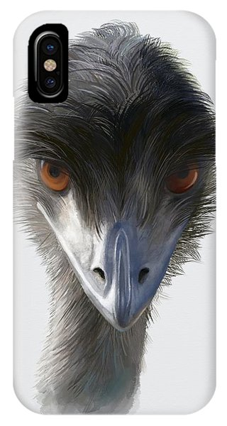 Suspicious Emu Stare IPhone Case