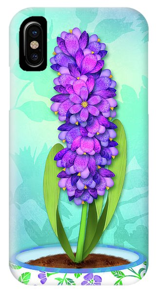 H Is For Hummingbird IPhone Case