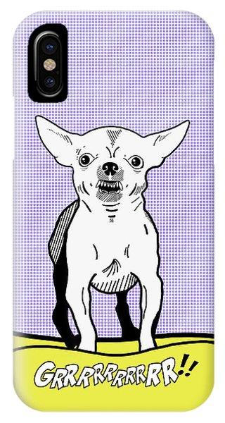 Chihuahua iPhone Case - Grrrrrrrrrrr Chihuahua by Mark Rogan