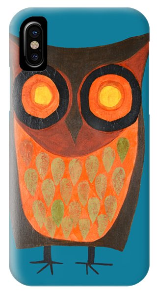 Give A Hoot Orange Owl IPhone Case