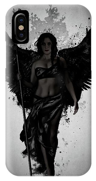 Mythology iPhone Case - Dark Valkyrja by Nicklas Gustafsson