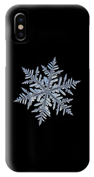 Real Snowflake - Silverware Black IPhone Case