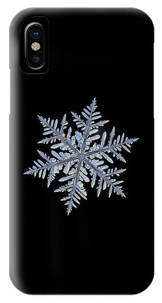 Real Snowflake - Silverware Black IPhone Case