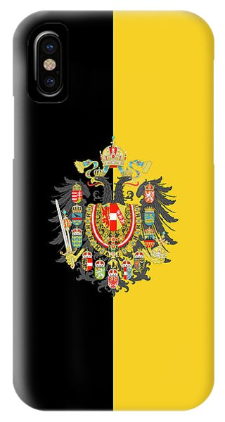 Habsburg Flag With Imperial Coat Of Arms 2 IPhone Case