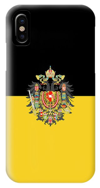 Habsburg Flag With Imperial Coat Of Arms 1 IPhone Case