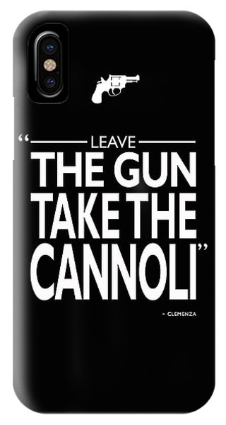 Michael iPhone Case - Leave The Gun Take The Cannoli by Mark Rogan