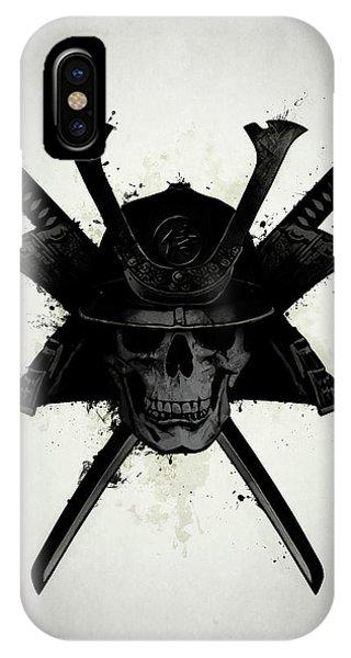 Skull iPhone Case - Samurai Skull by Nicklas Gustafsson