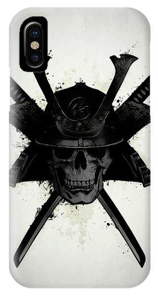 Ink iPhone Case - Samurai Skull by Nicklas Gustafsson