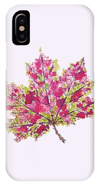 Colorful Watercolor Autumn Leaf IPhone Case