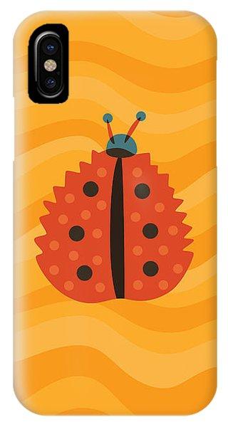 Orange Ladybug Masked As Autumn Leaf IPhone Case