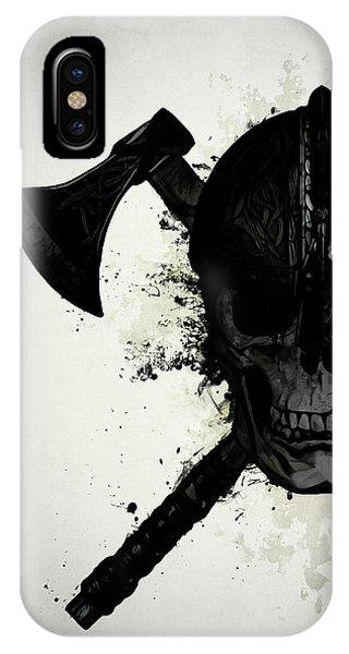 Skull iPhone Case - Viking Skull by Nicklas Gustafsson