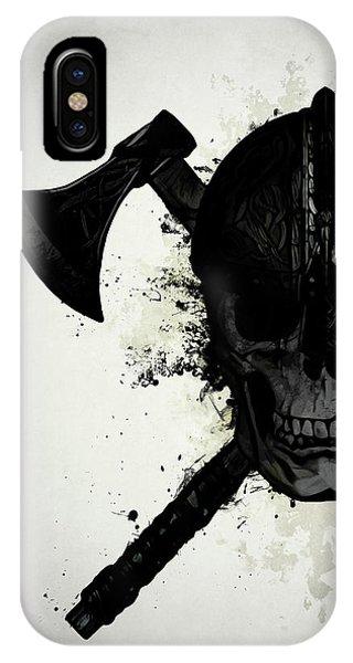 Ink iPhone Case - Viking Skull by Nicklas Gustafsson