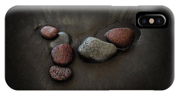 Black Sand iPhone Case - Black Sand Stones by Christopher Johnson