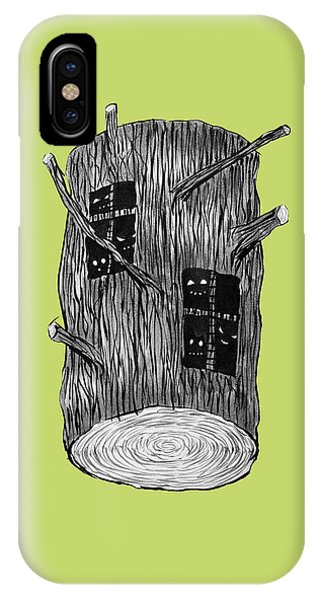 Tree Log With Mysterious Forest Creatures IPhone Case