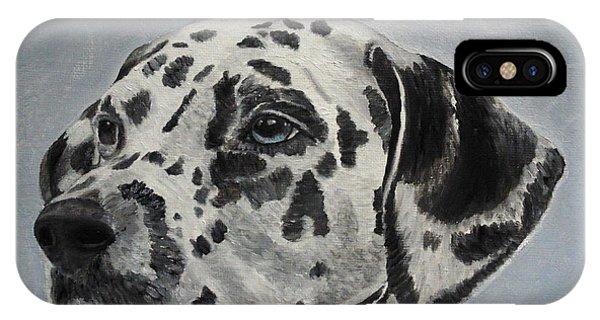 Dalmatian Portrait IPhone Case