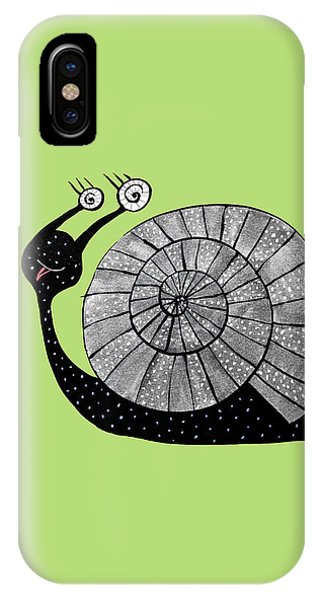 Cartoon Snail With Spiral Eyes IPhone Case