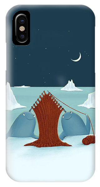 Knitting Narwhals IPhone Case
