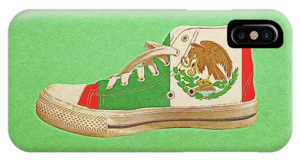 IPhone Case featuring the digital art Hi Top With Mexican Flag by Anthony Murphy