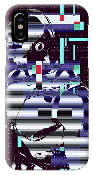 IPhone Case featuring the digital art My Robot by Anthony Murphy