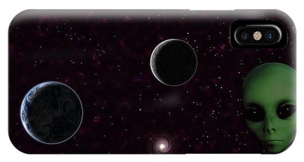 IPhone Case featuring the digital art Ever Wonder What Is Out There by Anthony Murphy