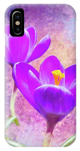 Our First Crocuses This Spring IPhone Case