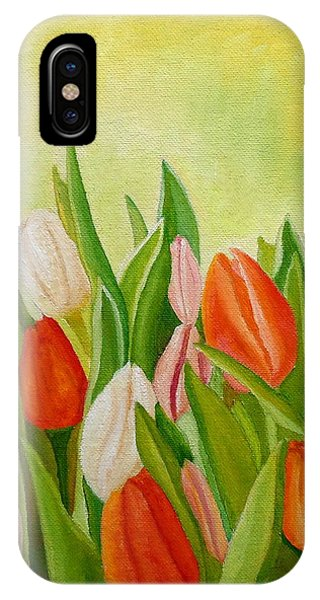 IPhone Case featuring the painting Colors Of Spring by Angeles M Pomata