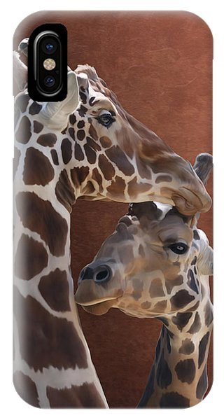 Endearing Giraffes IPhone Case