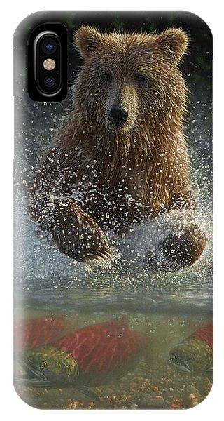 Brown Bear - Lucky Hole IPhone Case