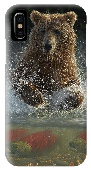 Brown Bear - Lucky Hole IPhone Case