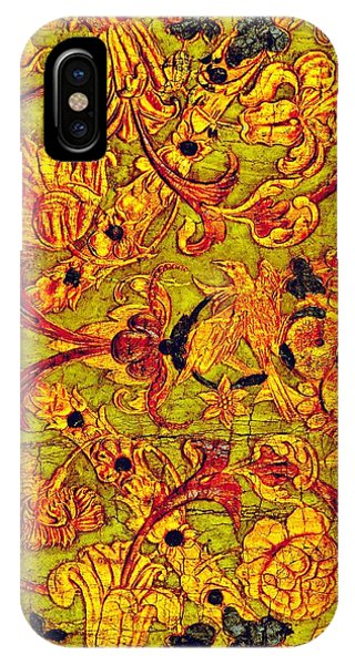 Swanky iPhone Case - Dutch Rococo Romantic Tooled Leather Botanical Decorative Panel 1750s by Peter Ogden Gallery