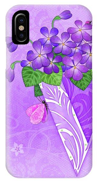 V Is For Violets IPhone Case