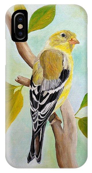 Pretty American Goldfinch IPhone Case