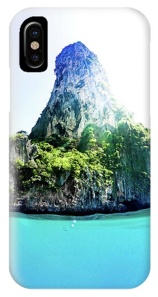 Under Water iPhone Case - Tropical Island by Nicklas Gustafsson
