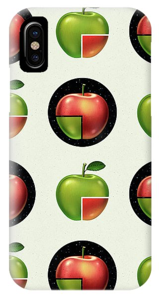 Divided Apple Pattern IPhone Case