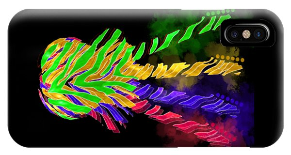IPhone Case featuring the digital art The Four Guitars by Guitar Wacky