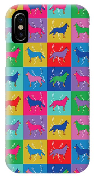 Pop Art German Shepherd Dogs IPhone Case