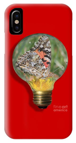 Butterfly In Lightbulb IPhone Case