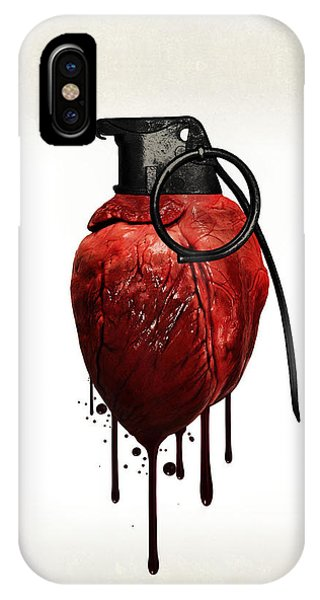 Peace iPhone Case - Heart Grenade by Nicklas Gustafsson
