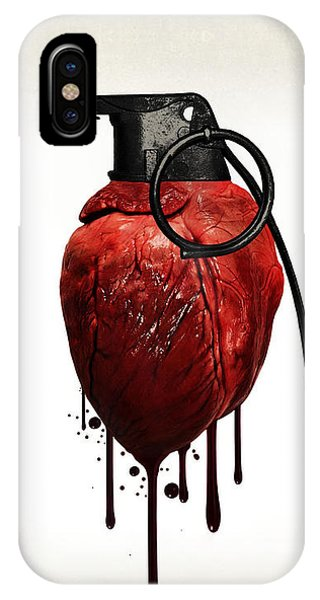 Love iPhone X Case - Heart Grenade by Nicklas Gustafsson