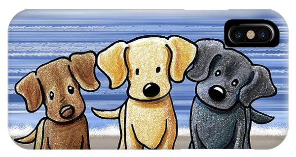 Retriever iPhone Case - Labrador Beach Trio by Kim Niles