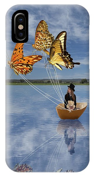 Butterfly Sailing IPhone Case