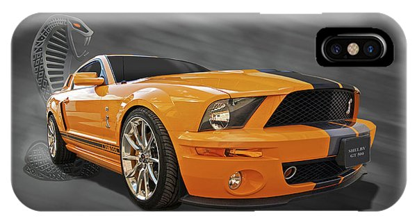 Cobra Power - Shelby Gt500 Mustang IPhone Case