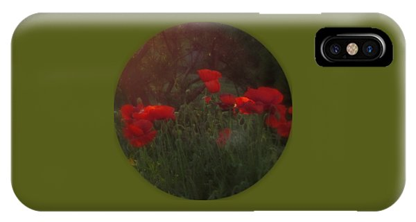Sunset In The Poppy Garden IPhone Case